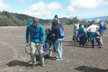 Estudiantes con capacidades diferentes visitan el Parque Nacional de Villarrica